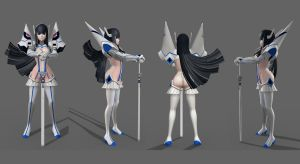 kiryuin satsuki in 3D (more) by QUICKMASTER