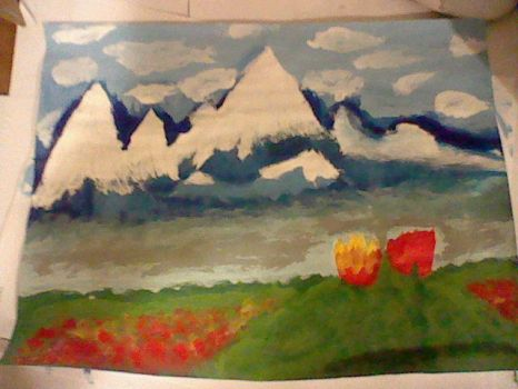 My Mountain Painting by TeraZyy