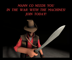 Mann Co Motivational Poster - Sniper by PrincessBloodyMary