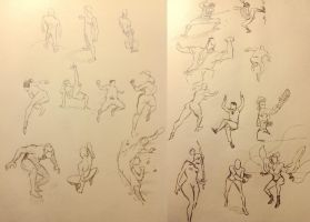 20 Action Poses by odunze