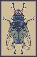 Housefly Pixel art by SaintBonkers