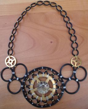 Steampunk inspired o-ring necklace. by BentFenderStudios