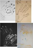 Hand Life Drawings. by rainbows-and-stars