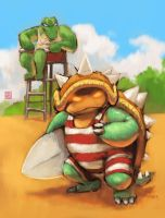 Rammus on the beach by racoonwolf