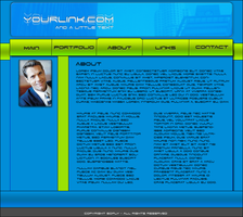 Green - Blue Template by soflyfx