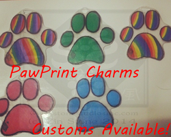 Shrinky Dink Pawprint Charms for sale! by ZinStone