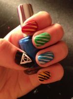Harry potter nails by CatherineAmpora