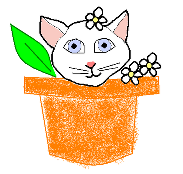 flower cat by harvest-moonsprite