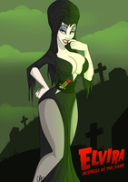 Elvira Mistress of the Dark by Sparky-corpsee