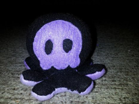 purple masked Punisher Octopus by TheJadedRaven