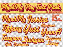 My Oh My Text PNG Pack by YoonAsGeneration