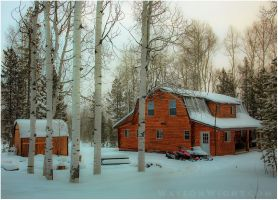 Winter at the Cabin by tourofnature