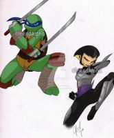 Leonardo and Karai by Inked-Alpha