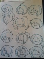 Various hair styles by MagicalPouchOfMagic