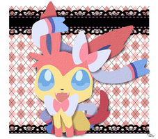 Paper Sylveon by MamaRocket