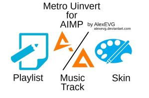 Metro Uinvert Icons for AIMP by AlexEVG