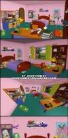 The Simpsons Hit and Run - Bart Bedroom by JhonyHebert