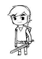 Link Lineart by Icy-Snowflakes