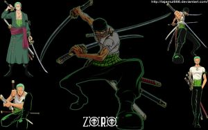 Zoro - Wallpaper by tajamul666