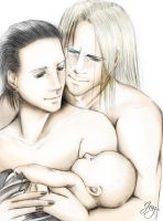 Thorki and baby by JoySlash