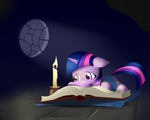 Filly Twillie Reading by Wreky