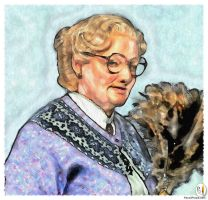 PencilPixels - Mrs. Doubtfire Robin Williams by PencilComic