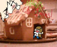 ginger bread house by flower-in-torn-jeans