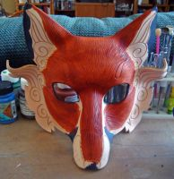Japanese Fox WIP...dyed fox by merimask
