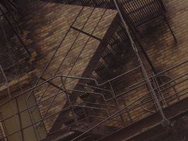 Fire Escape by LeVampyre