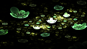 Bioluminescent Water Lilies by ReverieWisp