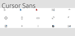 Cursor Sans (Old Version) by RandomAcronym