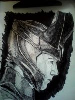Loki Ink Drawing by ConsultingTimeLord96