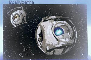 Minecraft Wheatley by Ellybethe