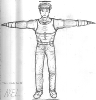 Axel  T pose concept sketch by juicethehedgehog
