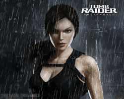 Tomb Raider Underworld Rain Wallpaper by Callypsso
