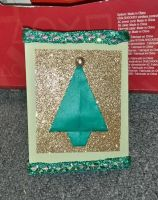 Green Gold Tree Christmas Card by RinnG