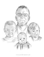 Grandfather and Grandsons by Ayeri