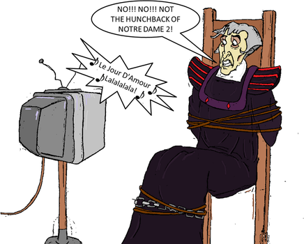 How to torture Frollo by Pelycosaur24