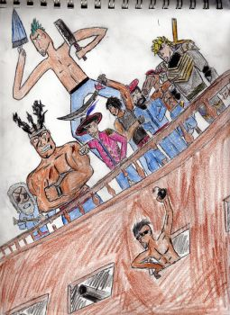 The Crew in colored pencil by Zephyr2109