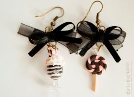 Icecaffe, lolli earrings by maria-chan