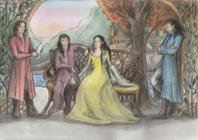 Evening in Rivendell by AnotherStranger-Me