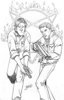 Sam and Dean Winchester by BenSteamroller