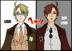 [APH] America and 2p! America by LukaMegurine78