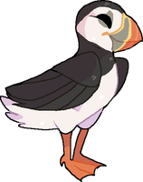 puffin!! :0 by sharkfreckles