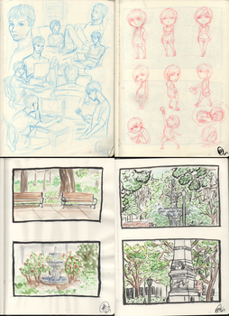 action analysis sketchbook pages by nushi-1616