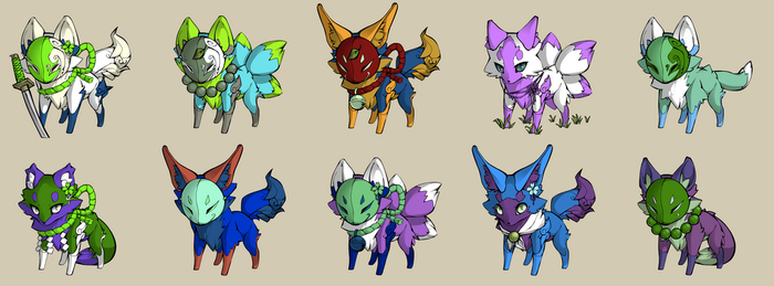 Fox Adopts :2: 7/10 OPEN by ChexMex-Adopts