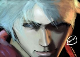 Devil May Cry 4 - Nero WIP by superMARIAbros
