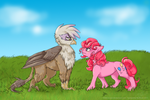 Pinkie and Gilda by SillyCaracal