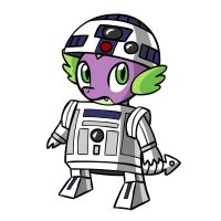 Stare Wars - Spike2 D2 by MegaSweet