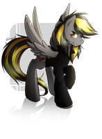 Raffle prize: Noir-okami by secret-pony